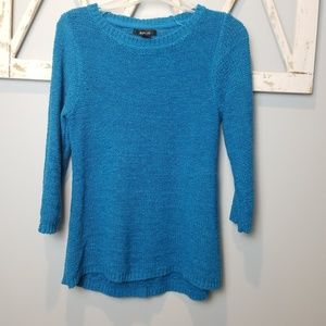 Style & CO pretty turquoise blue sweater Large